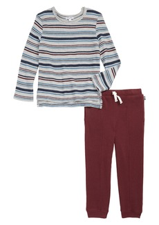 Splendid Stripe Sweatshirt & Sweatpants Set (Toddler Boys & Little Boys)