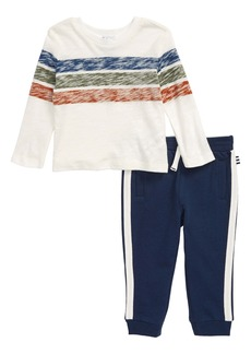 Splendid Stripe T-Shirt & Jogger Pants Set (Baby)