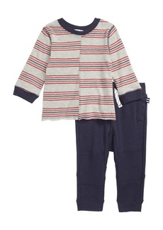Splendid Stripe T-Shirt & Jogger Pants Set (Baby Boys)