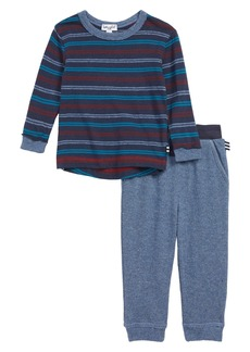 Splendid Stripe T-Shirt & Sweatpants Set (Baby Boys)