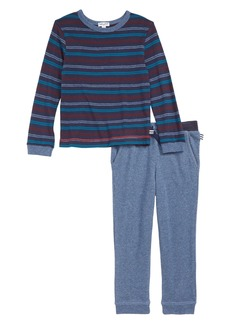 Splendid Stripe T-Shirt & Sweatpants Set (Toddler Boys & Little Boys)