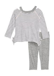 Splendid Stripe Tee & Leggings Set (Baby Girls)