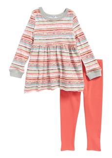 Splendid Stripe Top & Leggings Set (Toddler Girls & Little Girls)