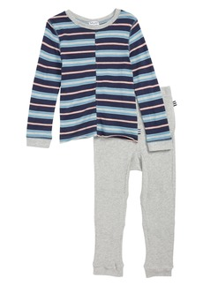 Splendid Stripe Top & Sweatpants Set (Toddler Boys & Little Boys)