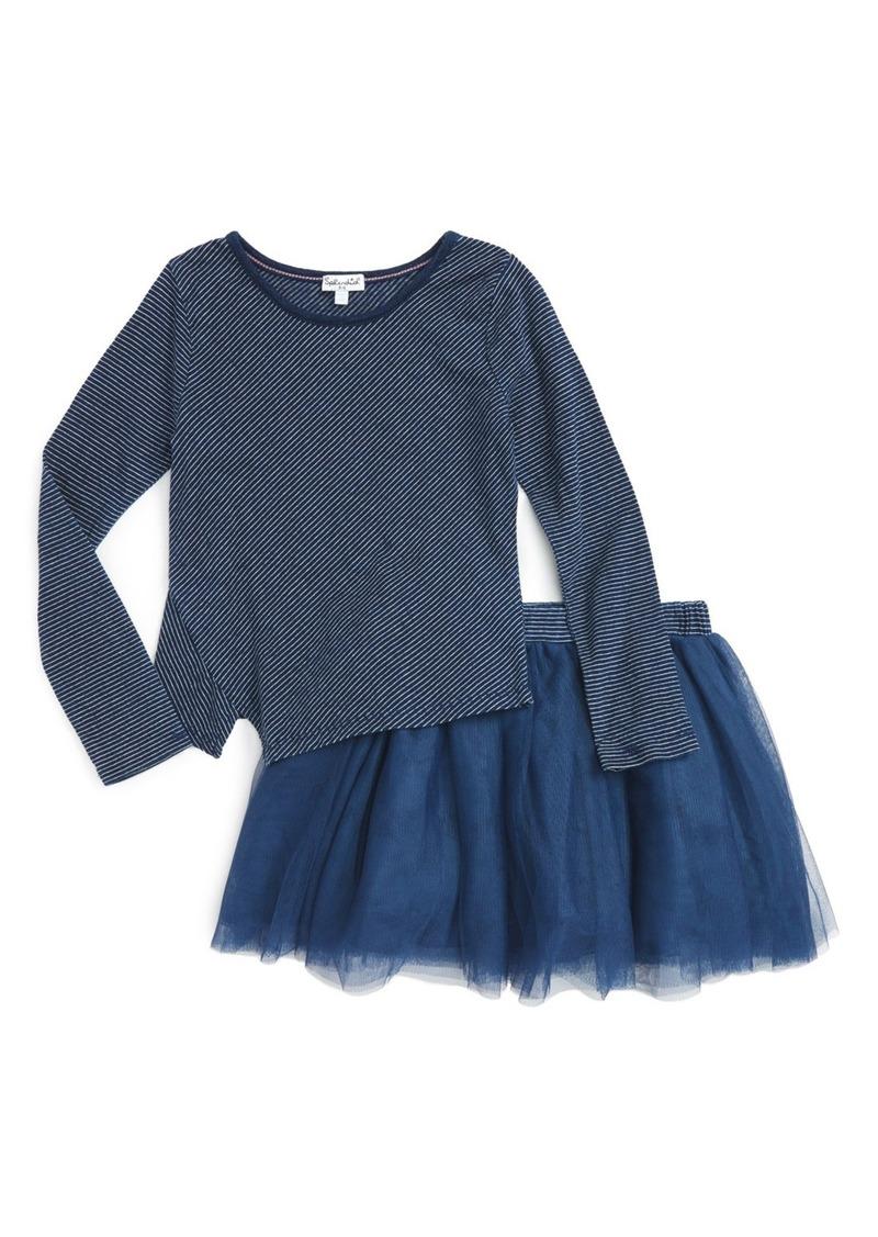 Splendid Stripe Top & Tutu Skirt Set (Toddler Girls & Little Girls)