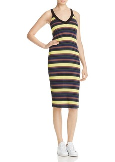 Splendid Stripe V-Neck Tank Dress
