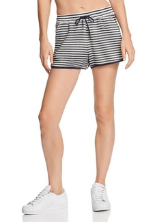 Splendid Striped Crochet Shorts