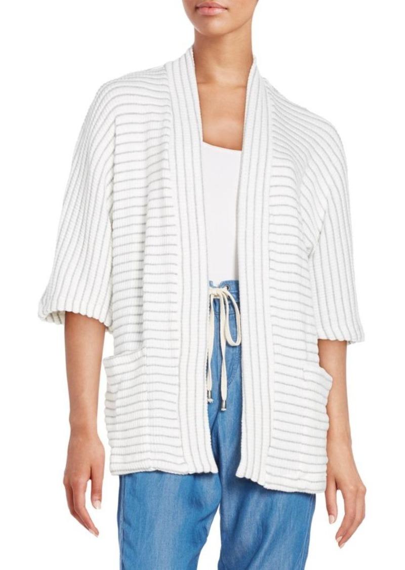 Splendid Striped Knit Cardigan