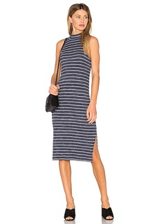 Splendid Striped Space Dye Rib Dress in Navy. - size L (also in M,S,XS)