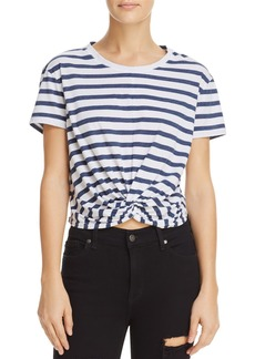 Splendid Striped Twist-Front Cropped Tee - 100% Exclusive
