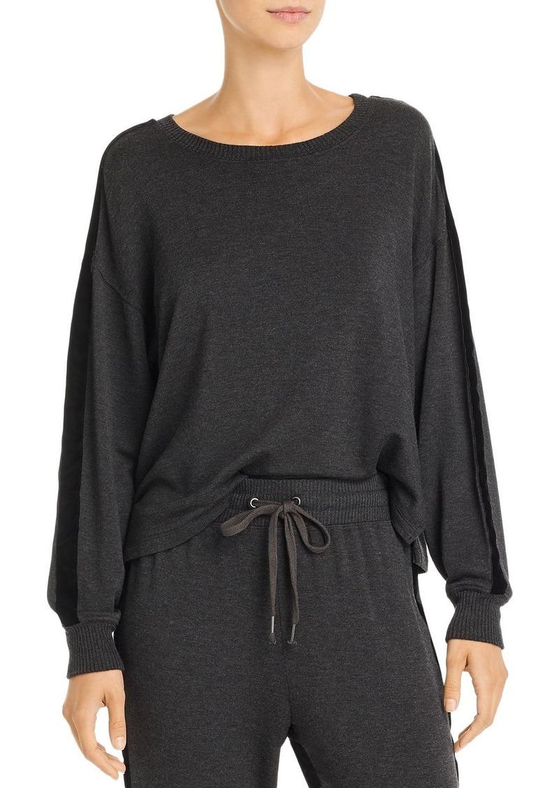 Splendid Super Soft Velvet-Trim Sweatshirt