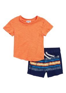 Splendid T-Shirt & Stripe Shorts Set (Baby Boys)