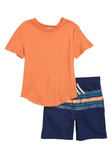 Splendid T-Shirt & Stripe Shorts Set (Little Boys)