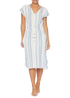 Splendid Tasseled Stripe Coverup Dress