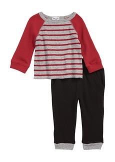 Splendid Thermal Raglan T-Shirt & Pants Set (Baby Boys)