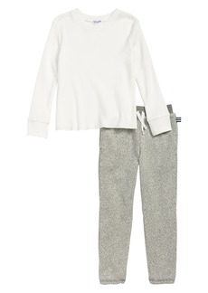 Splendid Thermal Shirt & Sweatpants Set (Toddler Boys & Little Boys)