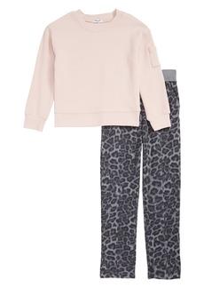 Splendid Thermal Top & Leopard Print Pants (Toddler Girls & Little Girls)