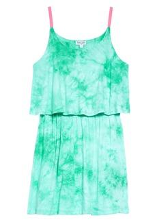 Splendid Tie Dye Popover Tank Dress (Toddler Girls & Little Girls)