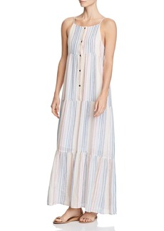 Splendid Tiered Striped Maxi Dress