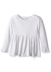 Splendid Toddler Girls' Long Sleeve with Lace Insert Top