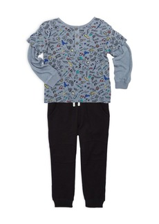 Splendid Toddler's & Little Boy's Two-Piece Rock & Music Top & Joggers Set