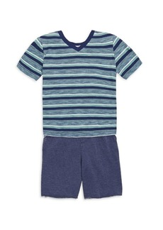 Splendid Toddler's & Little Boy's V-Neck T-Shirt and Short Set