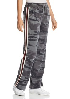 Splendid Track Stripe Raw-Edge Camo Sweatpants - 100% Exclusive