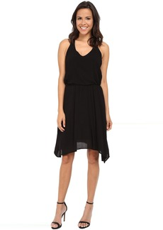 V-Neck Hanky Hem Dress