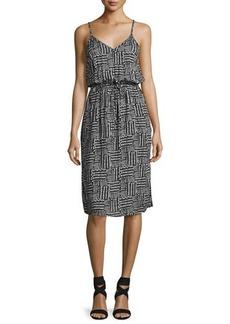 Splendid V-Neck Sleeveless Slip Midi Dress