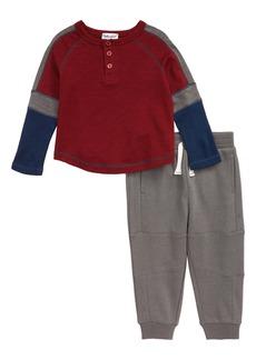 Splendid Varsity Henley & Sweatpants Set (Baby)