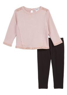 Splendid Velvet Sweatshirt & Leggings Set (Baby Girls)