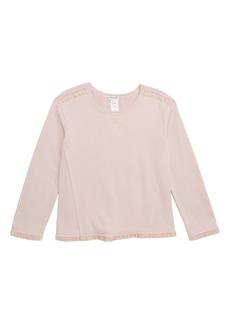 Splendid Velvet Trim Sweatshirt (Big Girls)