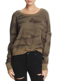 Splendid Wedge Camo Cropped Top