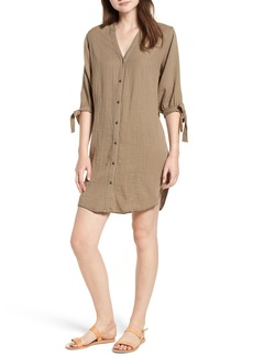 Splendid Whipstitch Tie Sleeve Shirtdress