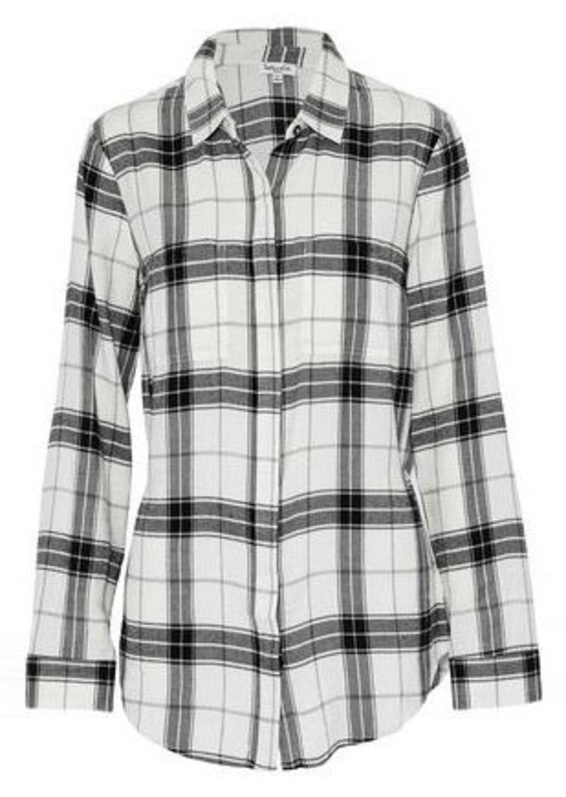 Splendid Woman Checked Flannel Shirt White