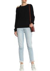 Splendid Woman Cutout Ribbed-knit Sweater Black