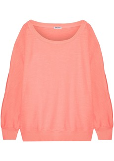 Splendid Woman Cutout Cotton Sweater Peach