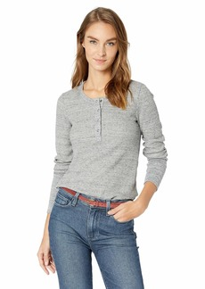 Splendid womens Long Sleeve Thermal Henley Shirt   US