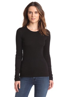 Splendid Women's 1X1 Long Sleeve Crew