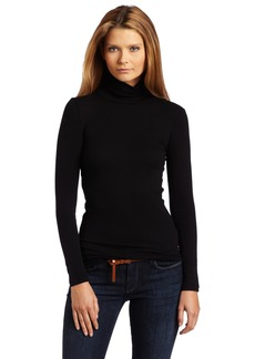 Splendid Women's 1X1 Long Sleeve Turtleneck Top