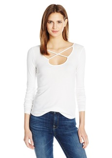 Splendid Women's 1x1 Ls X Top  L