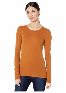 Splendid Women's 1X1 Rib Long-Sleeve Crew T-Shirt Top  XL