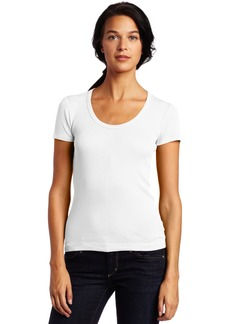 Splendid Women's 1x1 Short Sleeve Scoop