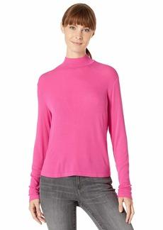 Splendid Women's 2x1 Long Sleeve Mock Neck Tee T-Shirt  XS
