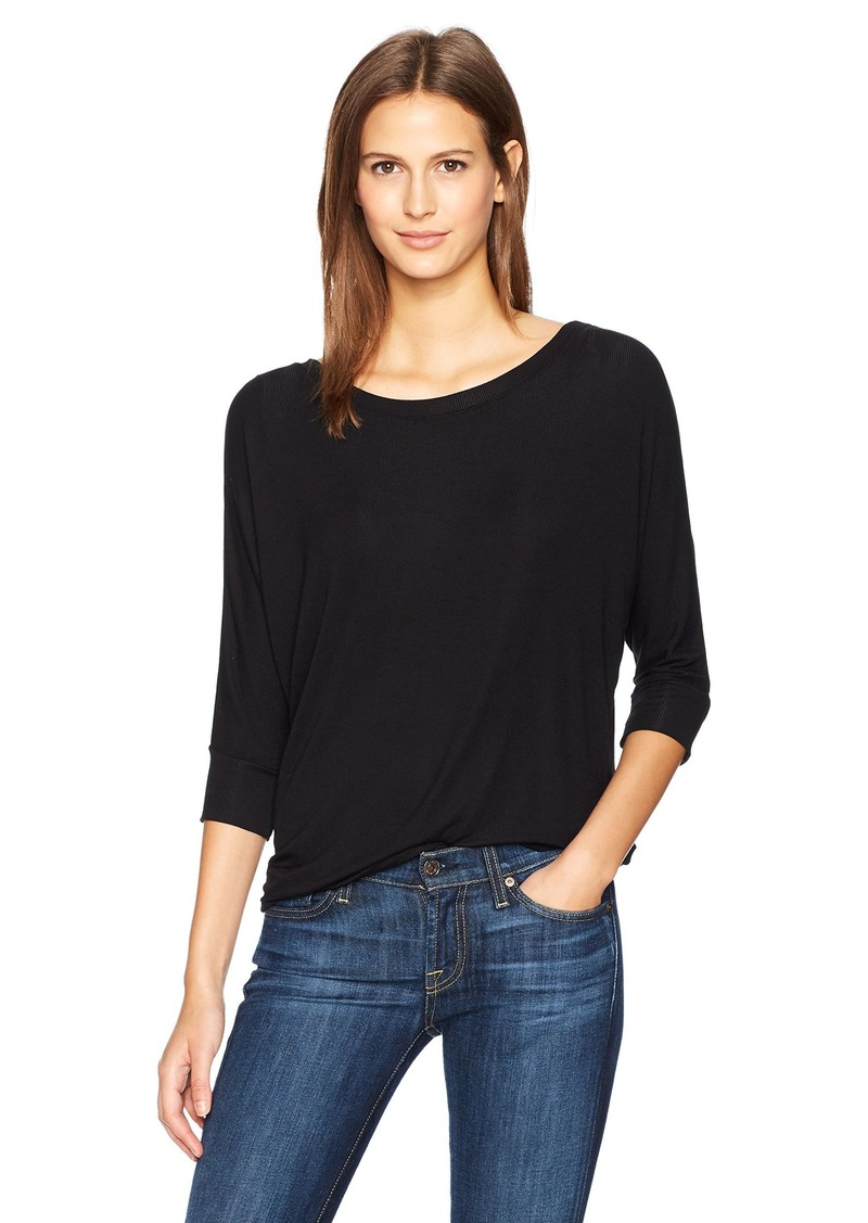 Splendid Women's 2x1 Rib 3/4 Sleeve  XS