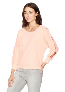 Splendid Women's Active Pullover Sweatshirt VTG Tropical Peach S