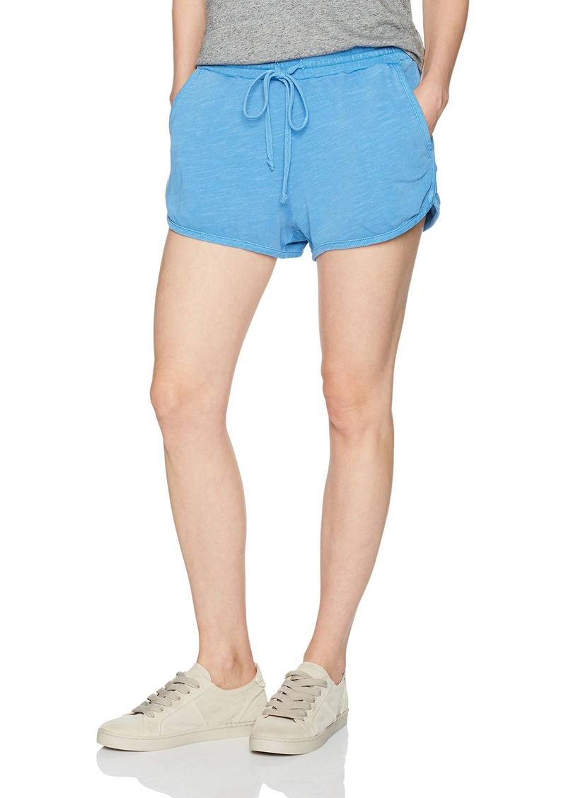 Splendid Women's Active Shorts VTG Heritage Blue L
