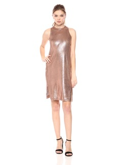 Splendid Women's Astor Metallic Coated Dress  L