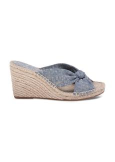 Splendid Women's Bautista Denim Espadrille Wedge Slide Sandals