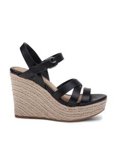 Splendid Women's Billie Leather Platform Wedge Espadrille Sandals